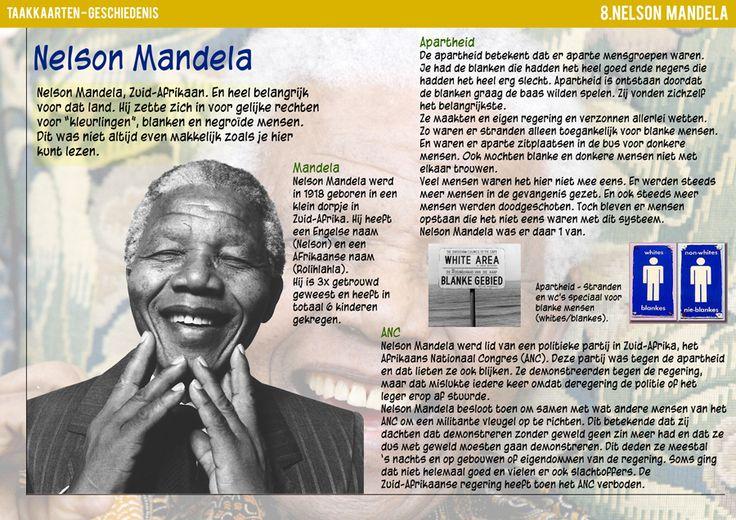 kaart is gemaakt voor het overlijden van Mandela