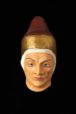 The Doge of Venice mask. A great example of papier mache handcrafted mask perfect to dress on face or to decore your places as a wall mask.. $224 http://originalveniceshop.com/en/venetian-masks/123-doge/