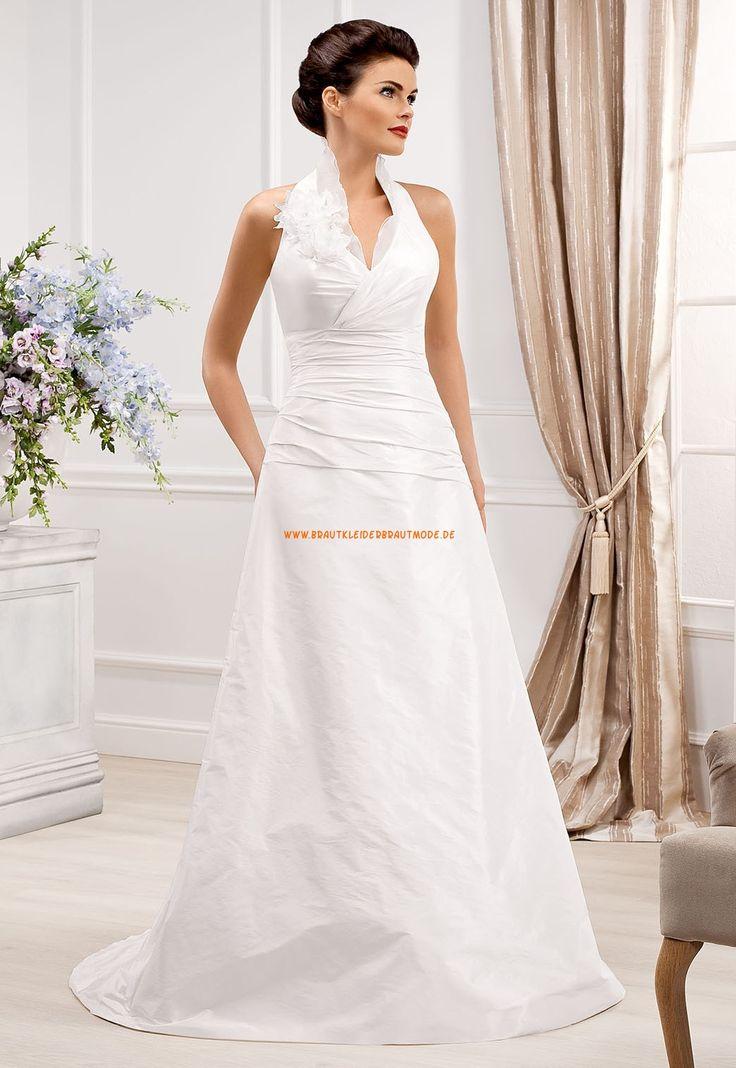 Schicke Schlichte Brautkleider aus Satin