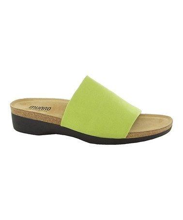 Love this Lime Aquarius Slide by Munro Shoes on #zulily! #zulilyfinds  $59