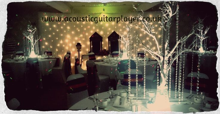 Set up ready to play for guests arriving during the wedding breakfast. A really grand room, a hidden gem of a venue in Hull.  www.acousticguitarplayer.co.uk