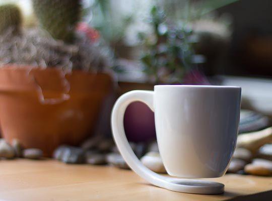 The Floating Coffee Mug - who needs coasters?
