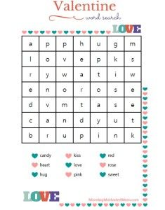 valentines day word search bible verse printables - Free Valentine Games