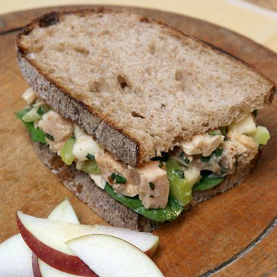 For a healthful lunch, try this tuna-stuffed sourdough sandwich. Crisp celery and apples add bite to the lemony basil mayo-dressed tuna.Recipe: Martha's Favorite Tuna Salad Sandwich  - Delish.com