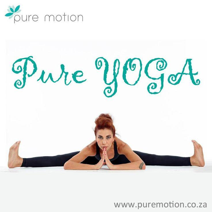 Pure YOGA at Pure Motion Studios www.puremotion.co.za