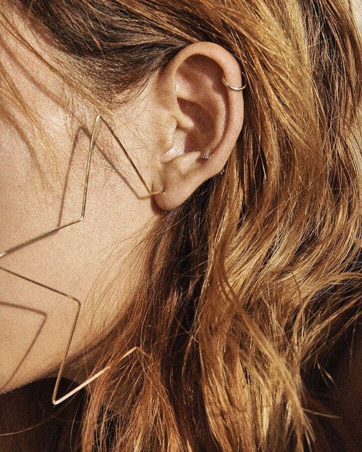 STARRY HOOP EARRINGS | @andwhatelse