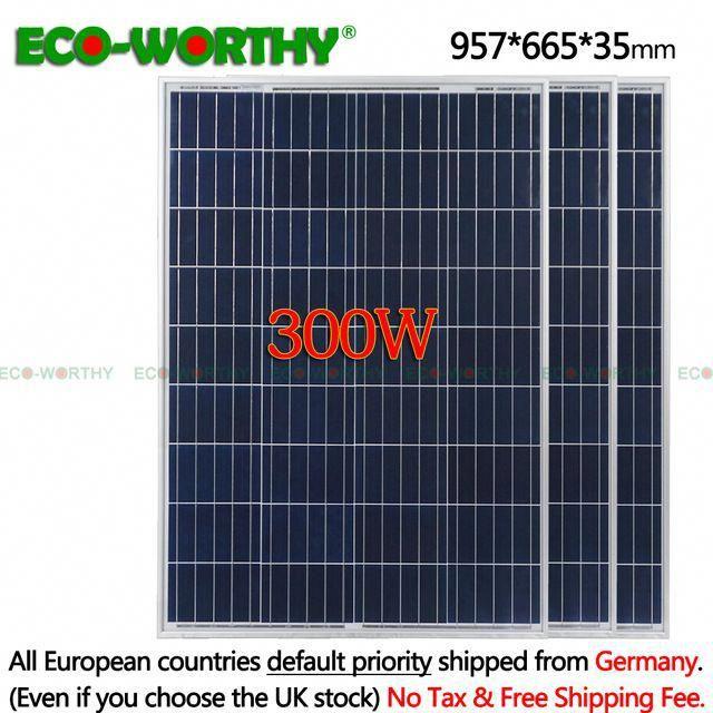 300w Solar Panel Kit 3 X 100w Poly Solar Panel Advanced Rv Solar Charger For 12v Battery Off Grid Solar System For Home In 2020 Off Grid Solar Rv Solar Solar Energy