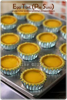 Just My Ordinary Kitchen...: EGG TART (PIE SUSU)