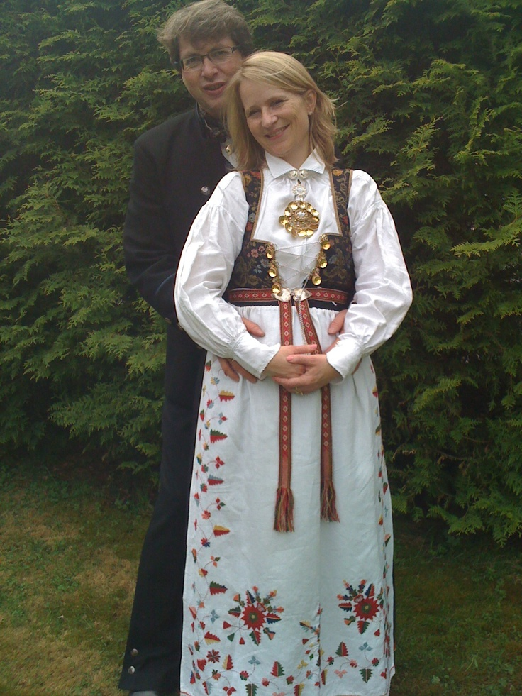 Hubbie and I in National Costumes May 17 in 2010 :)