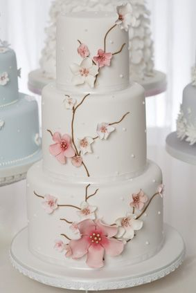 cherry blossom wedding cakes pictures | Cherry Blossom wedding cake. | Classy Treats