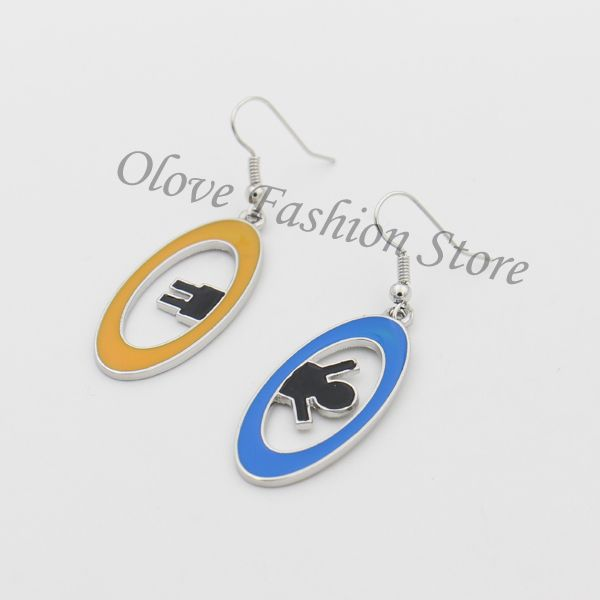 Portal 2 Inter Spacial Portal Dangle Silver Plated Earrings,the Enamel Drop Earrings Cosplay Jewelry Women Christmas Gift♦️ SMS - F A S H I O N 💢👉🏿 http://www.sms.hr/products/portal-2-inter-spacial-portal-dangle-silver-plated-earringsthe-enamel-drop-earrings-cosplay-jewelry-women-christmas-gift/ US $3.97