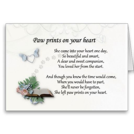 She left pawprints on your heart sympathy card. Pet sympathy