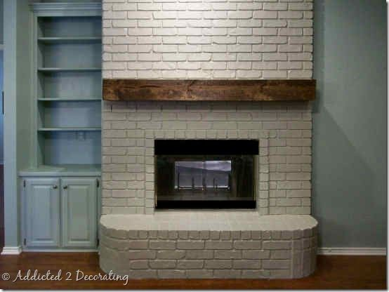 Rough Hewn Wood Fireplace Mantel - Addicted 2 Decorating®