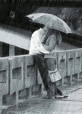 parejas abrazadas bajo la lluvia - Buscar con Google