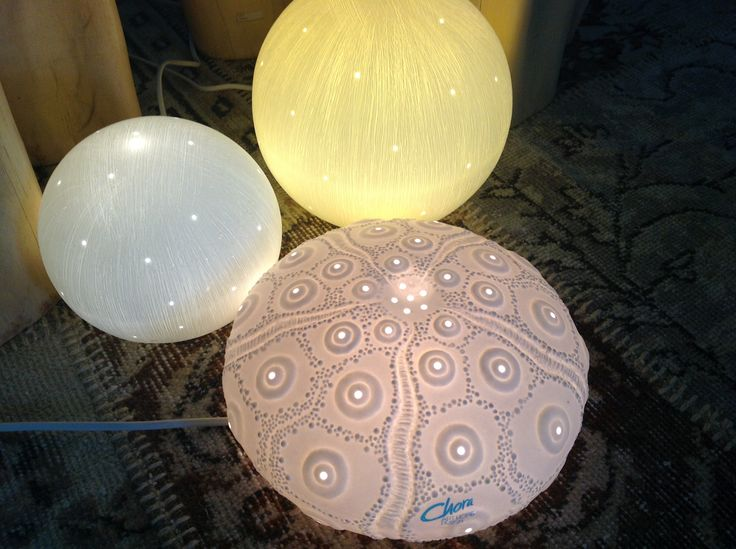 Glamorous floor and tables porcelain lights by Chora Art Home Design.