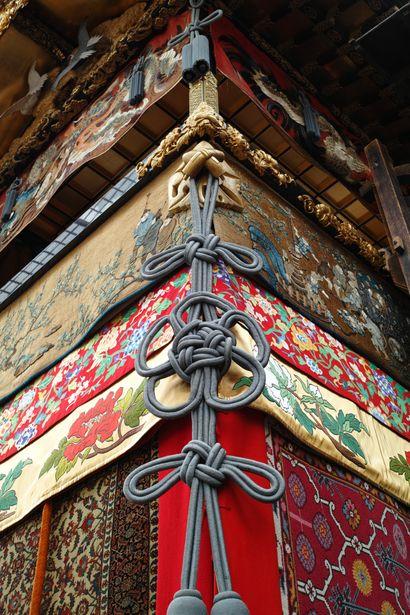 the detail of float for Gion Matsuri Festival, Kyoto, Japan 祇園山車