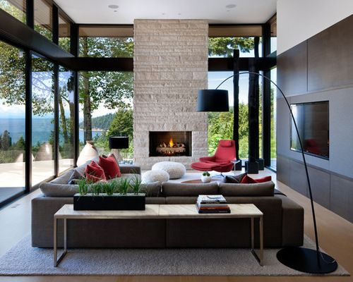 modern living room layout with fireplace small interior space decor ideas