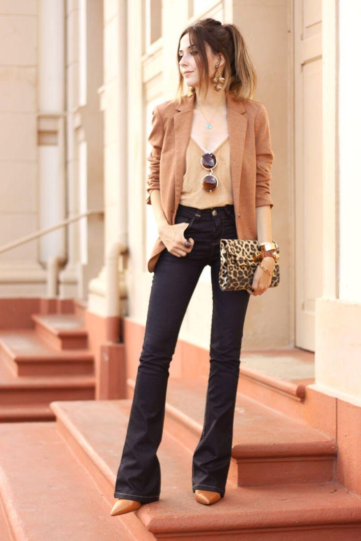 FashionCoolture - 30/03/2016 look du jour flare denim jeans MOfficer camel blazer (7) Fashion Coolture waysify
