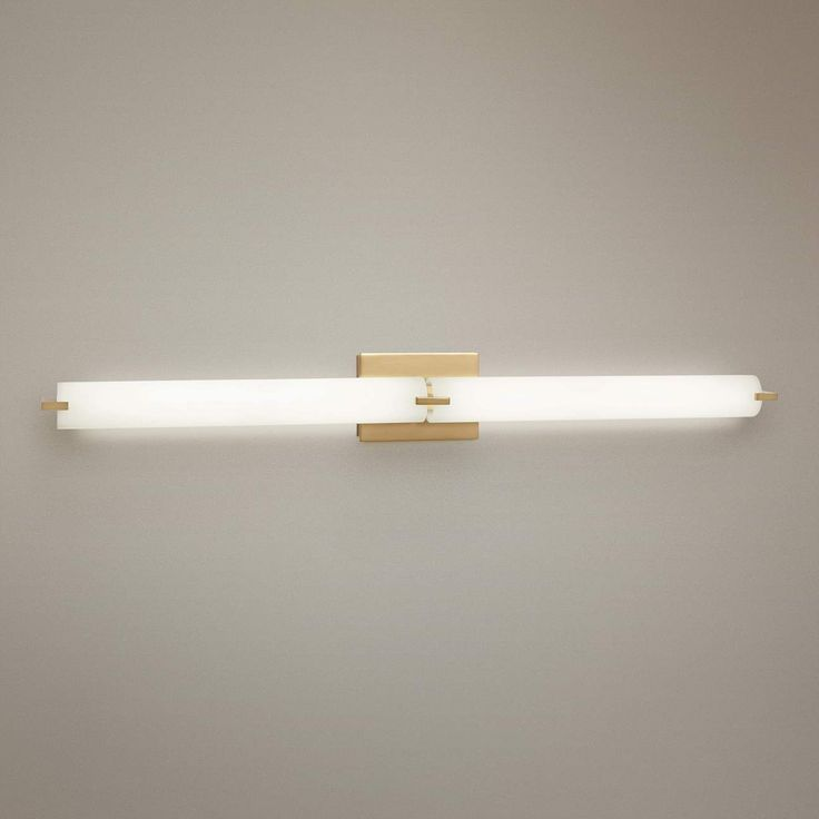 George Kovacs Tube 39 1 2 Wide Gold 2 Light Led Bath Light 56j86 Lamps Plus Modern Bathroom Light Fixtures Led Bathroom Lights Bathroom Light Bar George kovacs bathroom lighting