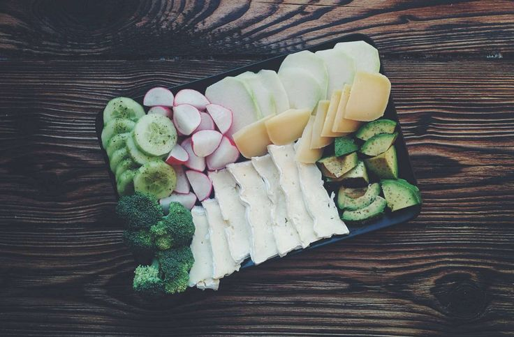 Vegetables and cheese plate - Foodie's Feed