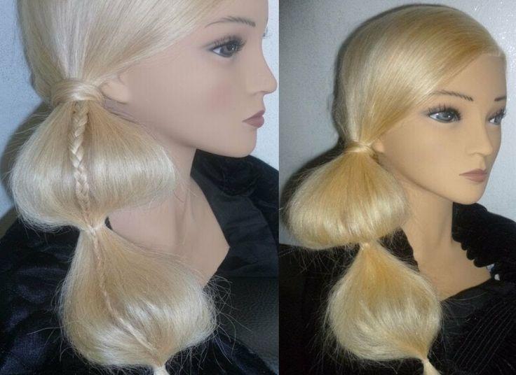 ОБЪЁМНЫЙ ХВОСТ из волос и ВИТАЯ коса-жгут.причёски также для тонких воло...