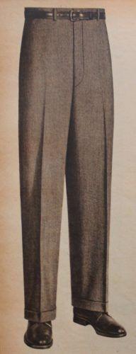1950s mens fashion, 1955 Mens Dress Pants