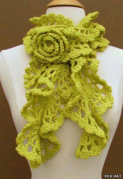 Pretty Scarf: free #crochet chart