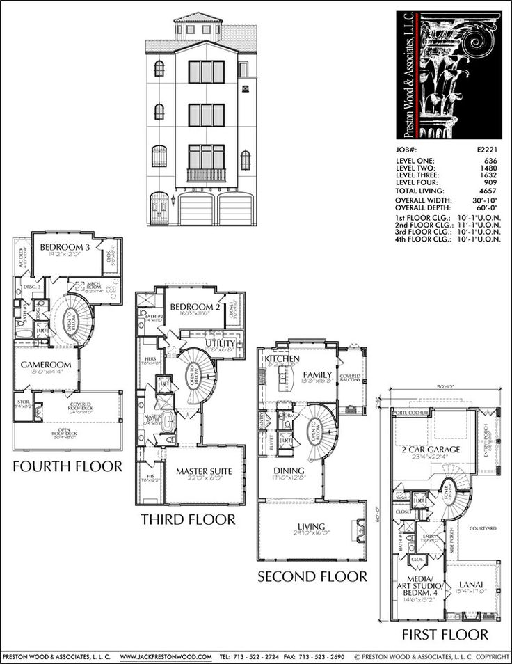 1436 best images about architecture on pinterest 2nd for Apartment townhouse plans