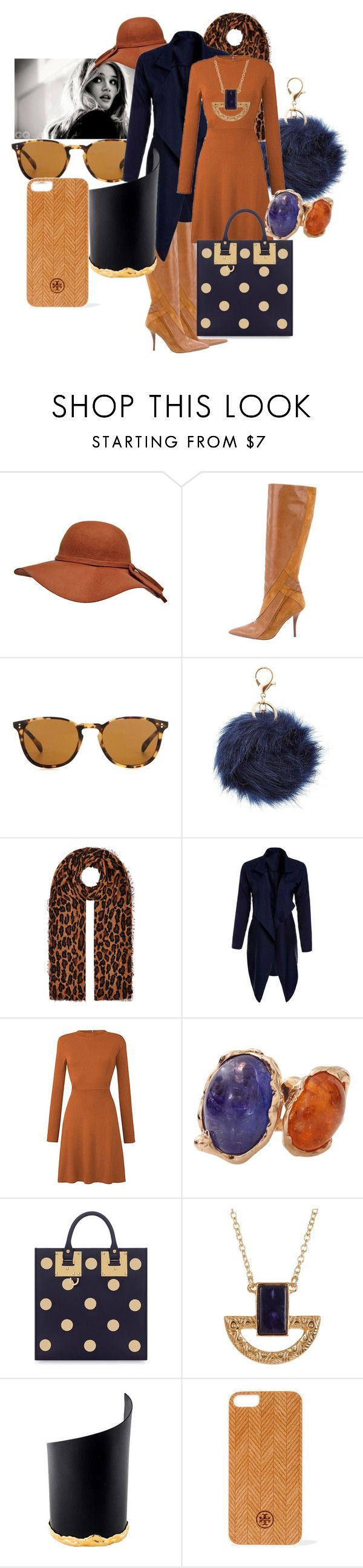 """Blue rising"" by thomdl95 on Polyvore featuring Alberta Ferretti, Oliver Peoples, Charlotte Russe, Accessorize, Lucifer Vir Honestus, Sophie Hulme, Jules Smith, Alexis Bittar and Tory Burch"