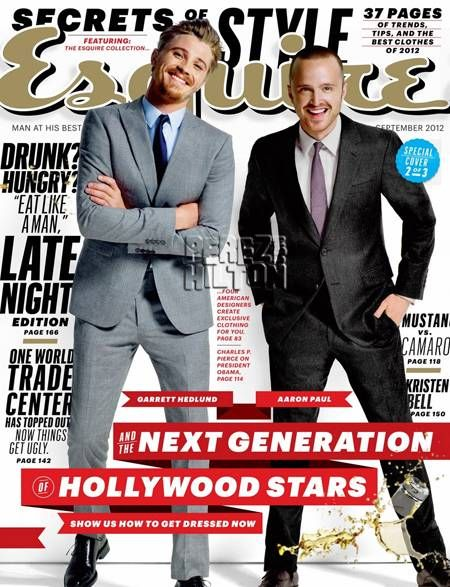 Love the type at play here: Paul Esquir, Garrett Hedlund, Photos Galleries, Magazines Design, Esquir Covers, Aaron Paul, Esquir Magazines, September 2012, Magazines Covers