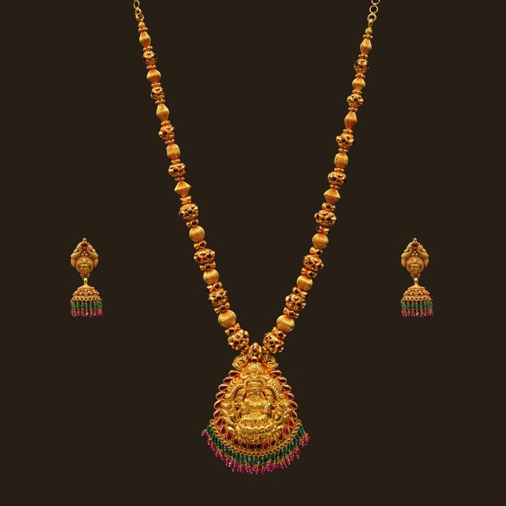 Gheru Polish Necklace Set (VBJ-OW-GN-6) | Vummidi Bangaru Jewellers