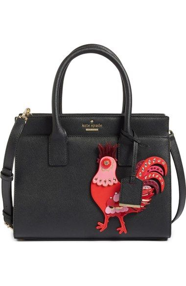 kate spade new york rooster small candace leather satchel available at #Nordstrom