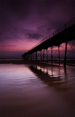 Beautiful picture of Saltburn pier, North Yorkshire, England.