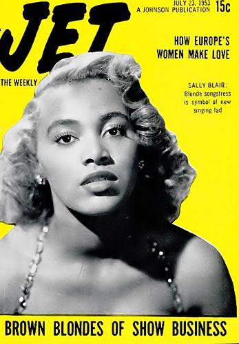 Blonde Singer Sallie Blair - Jet Magazine, July 23, 1953 by vieilles_annonces, via Flickr