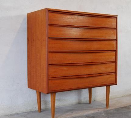 mid century danish teak drawers