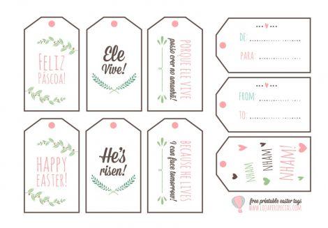 Peripécias | Design Gráfico | Tags para Páscoa | http://lojaperipecias.com