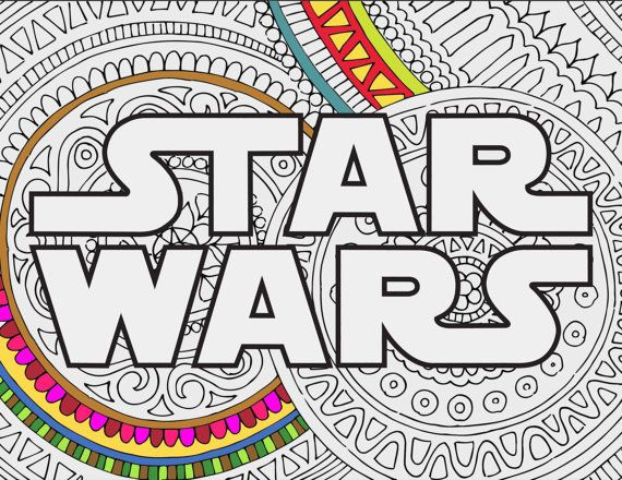 STAR WARS LOGO : Star Wars Zentangle doodle printable by INK88