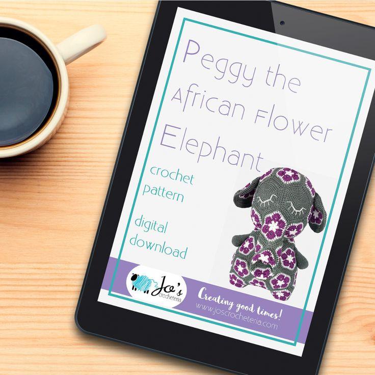 Download your Peggy the African Flower Elephant here on Etsy: https://www.etsy.com/se-en/listing/514291033/peggy-the-african-flower-elephant?ref=shop_home_active_8 www.joscrocheteria.com #crochetpattern #africanflowercrochetpattern #crochetafricanflowercrochetpattern #africanflowercrochet #crochetpatterns #crochetafricanflowerhexagonpattern #crochetelephant #crochetafricanflowerElephant