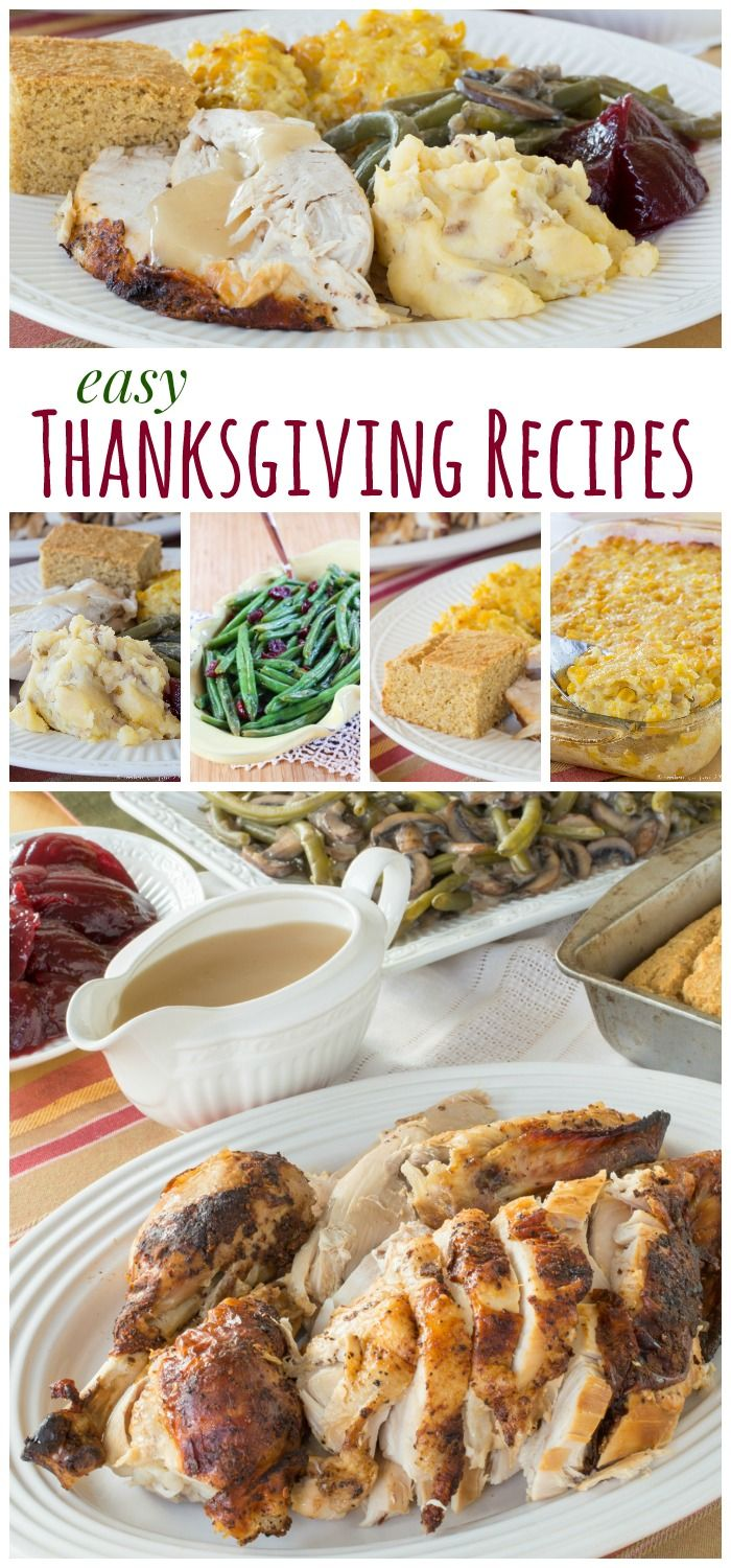 Easy Thanksgiving Recipes - a turkey dinner menu to make your holiday a breeze. Gluten free too!