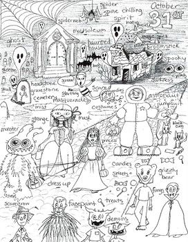 Articulation S HALLOWEEN SPECIAL Coloring Page This is one coloring page, for your students learning how to articulate the s, filled with special spooky words with s in all positions, and some z for fun, perfect or Halloween!