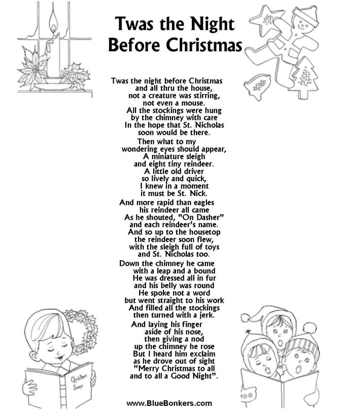 Twas the Night Before Christmas, Free Printable Christmas ... #ArgosPerfectChristmas