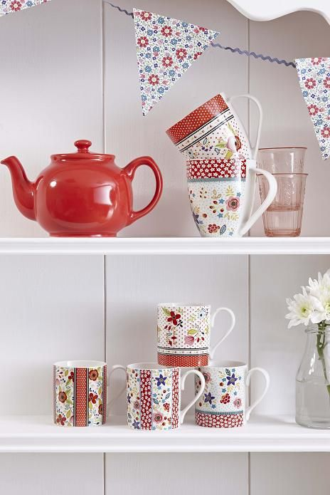 NEW FROM THE CARAVAN TRAIL - Beach Break #afternoontea #red #white #floral #home #gift
