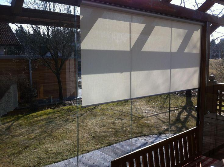 Glasschiebewand Mit Innenrollo Glasschiebetur Sonnenschutz