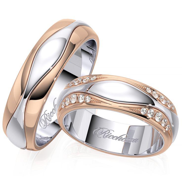 Обручальные кольца из комбинированного золота это не только дань моде, но и способ сочетать обручальное кольцо с украшениями из драгоценного металла любого оттенка. Глянцевые обручальные кольца имеют невероятный блеск и праздничное сияние каждый день. Кольца с глянцевой поверхностью очень просты в уходе и неприхотливы в использовании. Обручальные кольца с бриллиантами - это, безусловно, уже традиция. Кольца украшают
