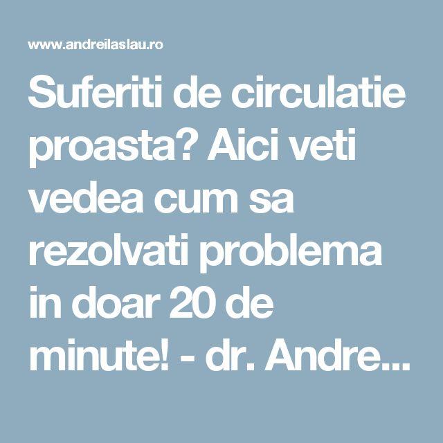 Suferiti de circulatie proasta? Aici veti vedea cum sa rezolvati problema in doar 20 de minute! - dr. Andrei Laslău