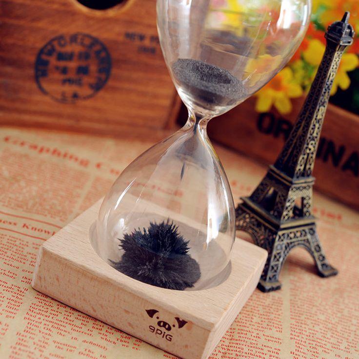 1 pcs Creative Sablier Magnétique De Fer Poudre Coloré Aimants Métal Sable Minuterie Reloj De Arena Romantique Cadeaux pour garçons filles S2(China (Mainland))