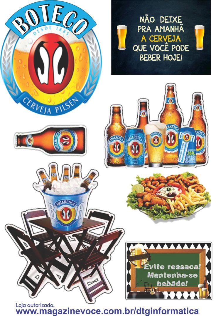 Topo Para Bolo Boteco Antartica Cerveja Bolo Cerveja Comida De Boteco Antartica Cerveja