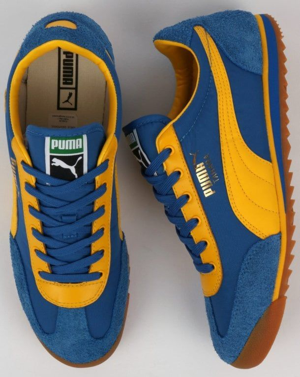 9659b17e7 Puma Tahara OG Trainer Blue/Yellow,retro,indoor,football,nylon,suede,shoes
