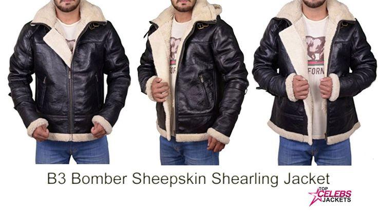 B3 Bomber Sheepskin Shearling Men Jacket
