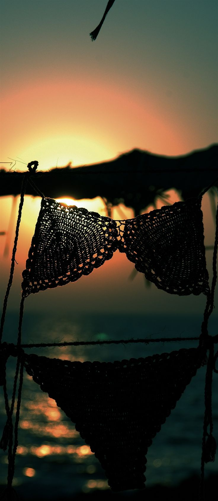 Bikini's and the sunset - At the Anjuna Flea Market